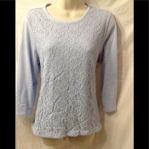 Women's size Large CATHY DANIELS lace front shirt